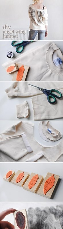 Bluza ze skrzydelkami - DIY.