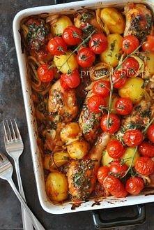 udka pieczone z ziemniakami
