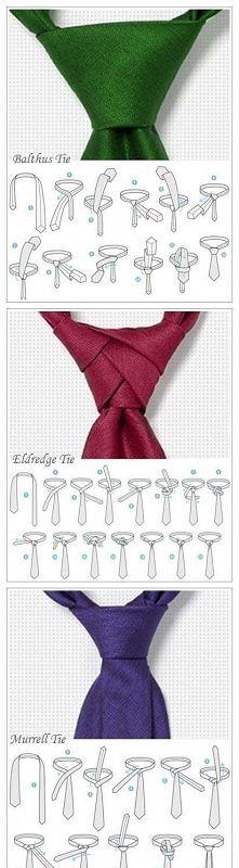 5 sposobów wiązania krawata.