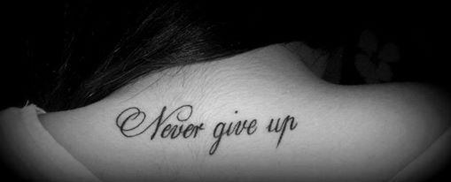 Never Give Up Na Tatuaże Zszywkapl