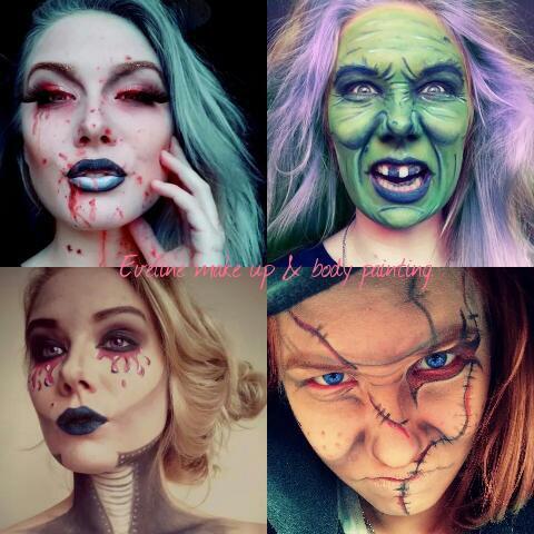 """Małymi krokami zbliża się...Halloween ! Dlatego też to odpowiednia chwila aby robić makijaże na tą okazję, więc zapraszam na stronę mojej siostry """"Eveline make up & body painting"""" , gdzie znajduje się więcej takich makijaży :)"""