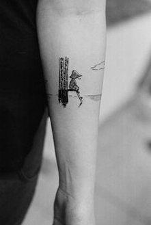 Bo Włóczykij. ♥ :) Uroczy tatuaż :)