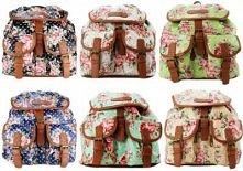 Plecaki vintage w kwiaty