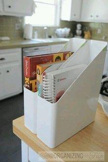 Uporządkowane książki kucharskie