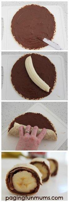 naleśniki z bananem i czeko...