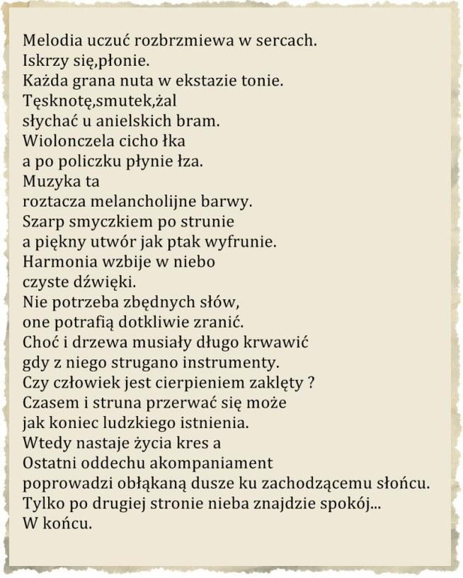 Melodia życia I śmierci Na Wiersze Zszywkapl