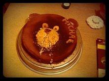 moje początki z tortami :D urodzinowy dla mojego chłopaka, jakieś hmm chyba 3 lata temu :P
