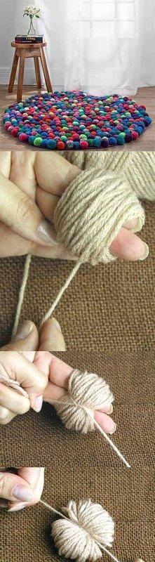 mięciusi dywanik z pomponów