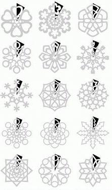 śnieżynki szablony