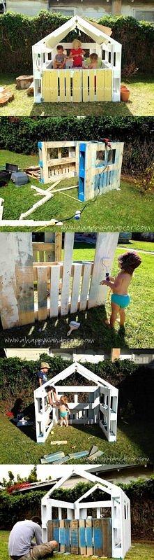 Domek z palet dla dzieciaczków