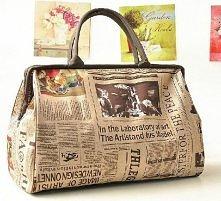 Duża pojemna torba retro vi...