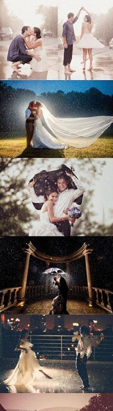 ślub w deszczu też może być...