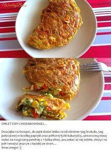 Przepis na omlet Ewy Chodak...