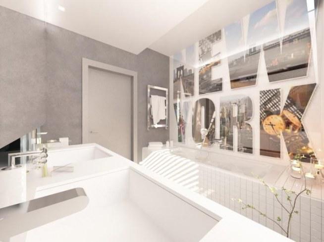 projekt wnętrza �azienki z betonu aranżacja ma�ego