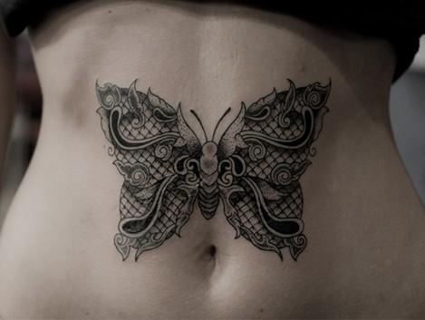 Tatuaż Motyl Na Ciekawe Tatuaże Zszywkapl