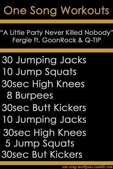 """Zestaw ćwiczeń do piosenki """"A little party never killed nobody"""""""