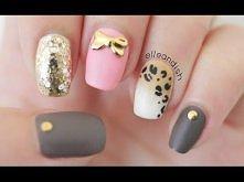 Matte Ombré Leopard Nails (Toothpick & Sponge)