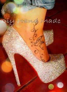 Slubne buty Magdy:) Srebrne...