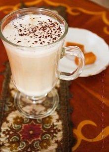 Kawa krówkowa 100ml mleka 100ml kawy 3 krówki kostka czekolady mleko przelać ...
