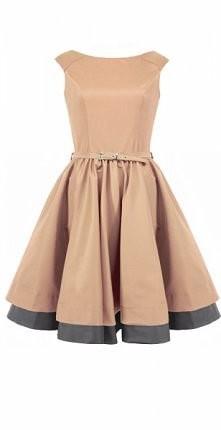 Beżowa sukienka vintage