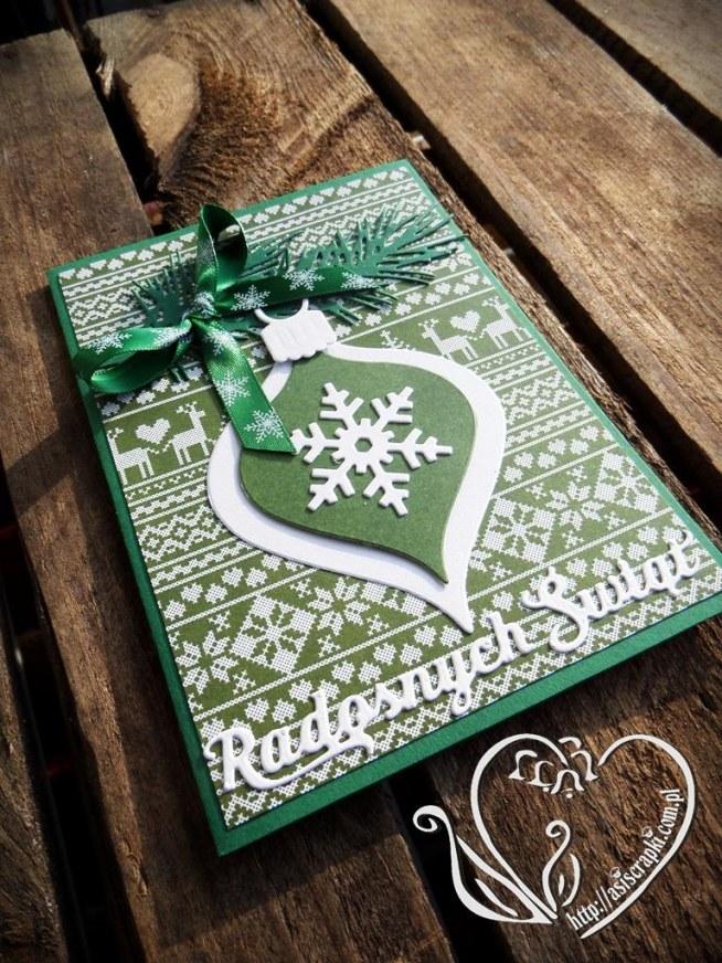 Kartka Zielona Na Boże Narodzenie Asiscrapki Na Boże