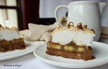 Ciasto cappucino z bananem i bezą