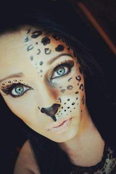 Makijaż na halloween dla miłośników wielkich kotów :)