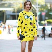 Fashion Cartoon Dots Long Sleeve Knitting Dress