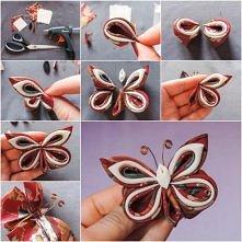 Silk Ribbon Butterfly