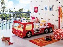Łóżko Franek - idealne dla każdego chłopca, który marzy o byciu strażakiem. Nowoczesne Meble