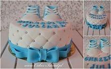 tort na chrzciny chłopca