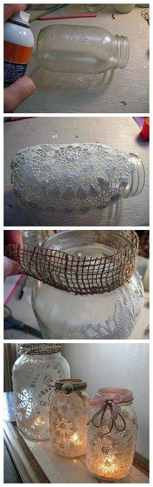 DIY - Świeczki ze słoików
