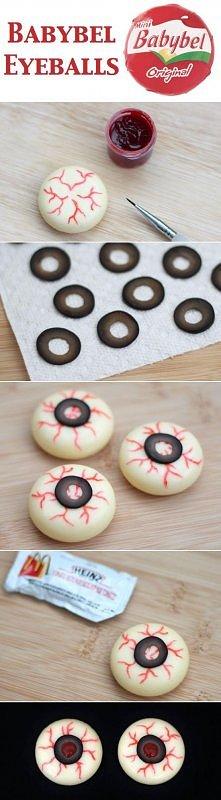gałki oczne z mini serków :)