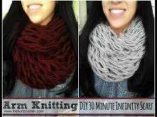 DIY Arm Knitting - 30 Minute Infinity Scarf