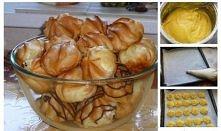 15 dag mąki 1 szklanka wody 8 dag masła 4 jaja pół łyżeczki proszku do piecze...