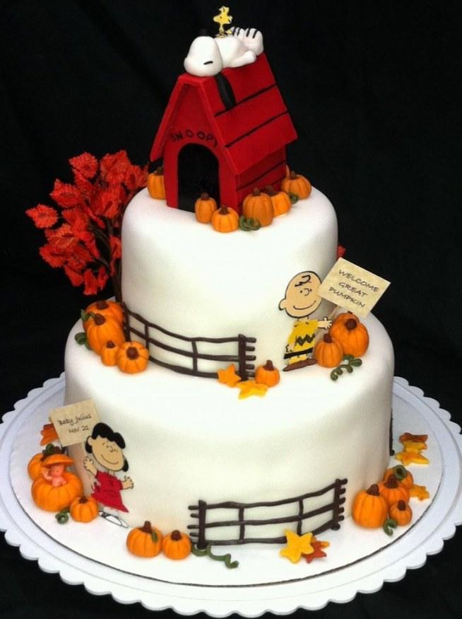 Fall Snoopy Cake