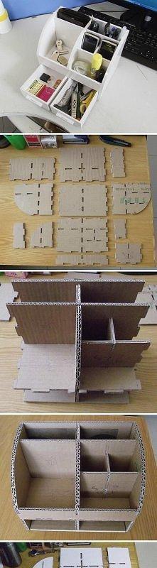 Sposób na łatwy, tani, użyteczny organizer! A wszystko tylko z kartonu.