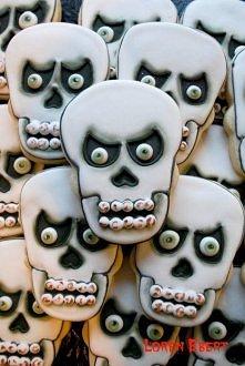 Scariest Skull Cookies