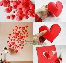 Trójwymiarowe serca z papieru