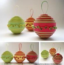 DIY Bombki z papieru