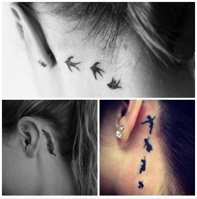 Tatuaże Za Uchem Na Tatuaz Zszywkapl