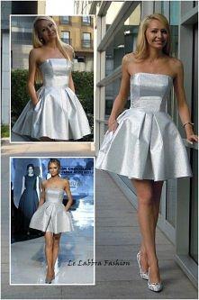 Le Labbra Fashion - Szyta na miarę rozkloszowana sukienka, unikalna tkanina i...