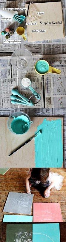 jak zrobić farbę tablicową
