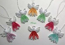 aniołki quilling