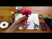 Jak zrobić butonierkę przypinkę z kwiatów np. goździka ?