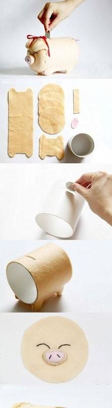 skarbonka dla małych i dużych dzieci, fajny pomysł ;)