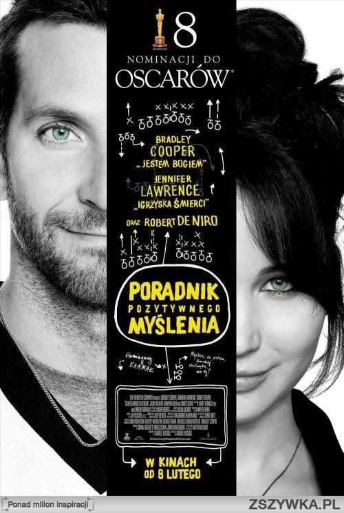 Poradnik Pozytywnego Myślenia / Silver Linings Playbook (2012)- Pat Solitano, po tym jak stracił pracę dom oraz żonę, spędził w szpitalu psychiatrycznym kilka miesięcy. Wrócić do społeczeństwa pomagają mu rodzice, przyjaciele i piękna dziewczyna.
