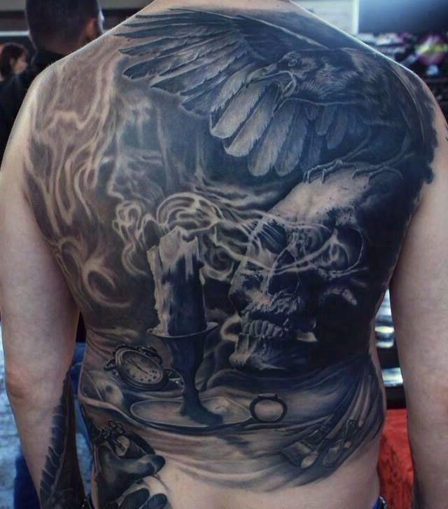 Czaszka I Kruk Na Tatuaże Zszywkapl