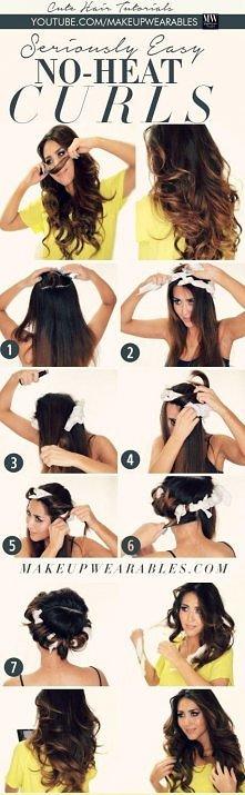 Poznajcie 3 sposoby na loki bez uszkodzenia włosów i bez lokówki --->> kolejne 2 na stronie