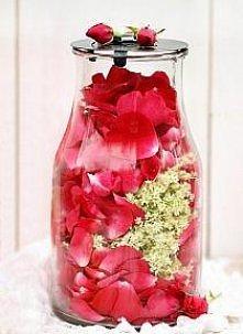 Syrop z czarnego bzu i róży   20 baldachów kwiatów czarnego bzu 100g płatków ...